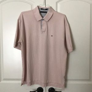 2XL Tommy Hilfiger light pink polo